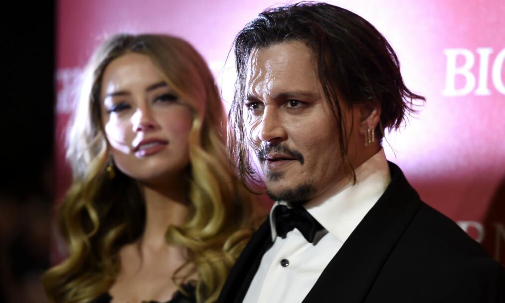 <strong>SLÅR TILBAKE:</strong> Johnny Depp går til sak mot ekskona for ærekrenkelse, og krever en enorm sum i erstatning. Foto: NTB Scanpix