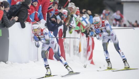 <strong>JAGET JOHAUG:</strong> Ebba Andersson og Frida Karlsson. Foto: Bjørn Langsem