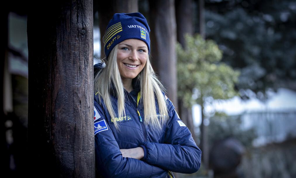 <strong>KAN BLI EN SUPERSTJERNE:</strong> Svenske Frida Karlsson fikk sitt store gjennombrudd i ski-VM med tre medaljer. Foto: Bjørn Langsem / Dagbladet