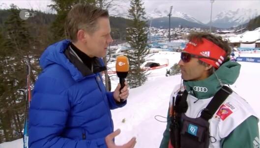 <strong>KOMISK:</strong> Det var i intervju med ZDF at Schlickenrieder kalte situasjonen komisk. Foto: Skjermdump ZDF