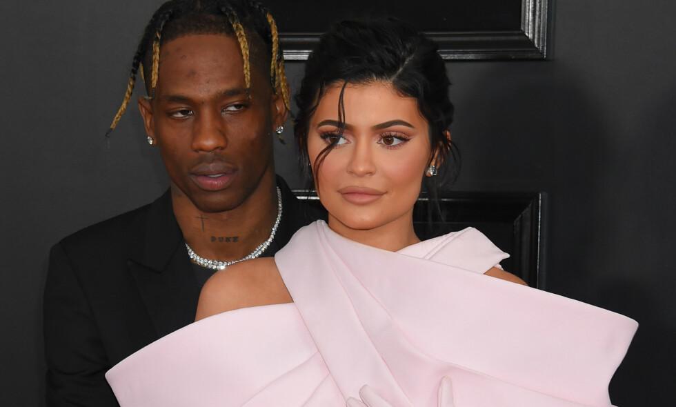 UTROSKAP: Etter at beskyldninger om at Travis Scott skal ha vært utro mot Kylie Jenner ble kjent, har førstnevnte slettet Instagram. Foto: NTB Scanpix