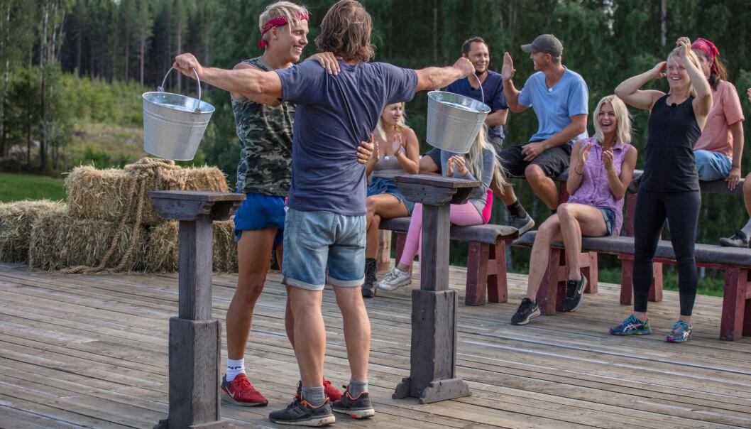 <strong>UTE:</strong> Erik Anders Sæter hadde sett for seg å gå helt til topps i «Farmen Kjendis». Dessverre måtte han se seg slått rett før finaleuken. Foto: Alex Iversen / TV 2