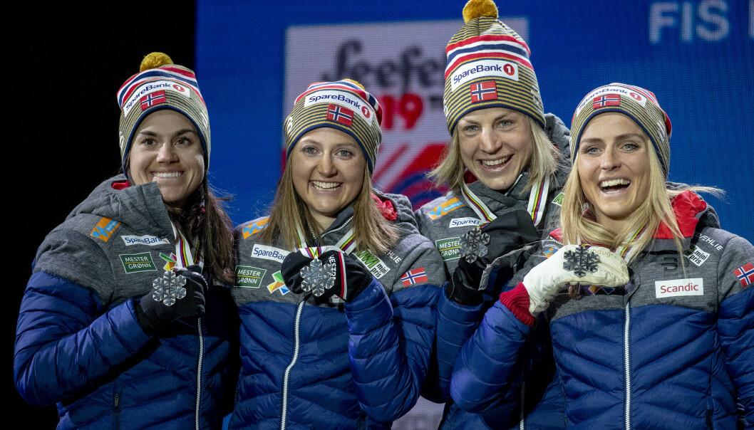 <strong>VIL HA DEBATT:</strong> Norge, og ikke minst langrennsjentene Heidi Weng, Ingvild Flugstad Østberg, Astrid Uhrenholdt Jacobsen og Therese Johaug, leverte et fantastisk ski-VM. Foto: Bjørn Langsem