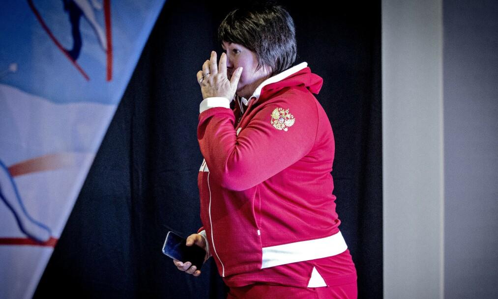 <strong>MEKTIG:</strong> Jelena Välbe har vært skipresident i Russland siden 2010. I dag ba hun til høyere makter om gull. Dette bildet er tatt tidligere i mesterskapet. Foto: Bjørn Langsem