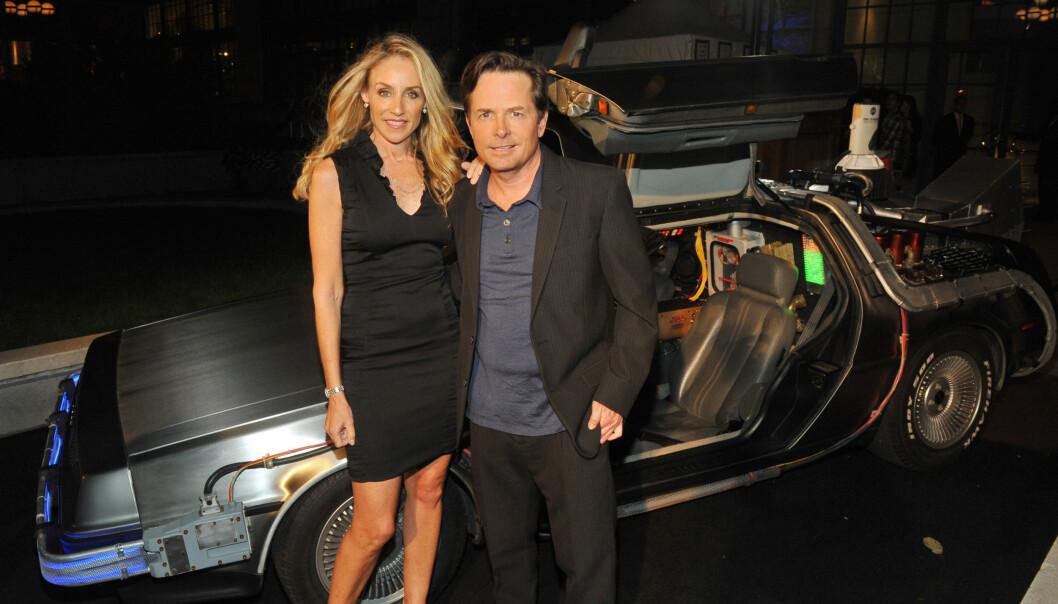 I 2010: Michael J. Fox legger ikke skjul på at Parkinsons-diagnosen har gjort tilværelsen mer krevende med åra. Her avbildet med kona Tracy Pollan. Foto: NTB Scanpix