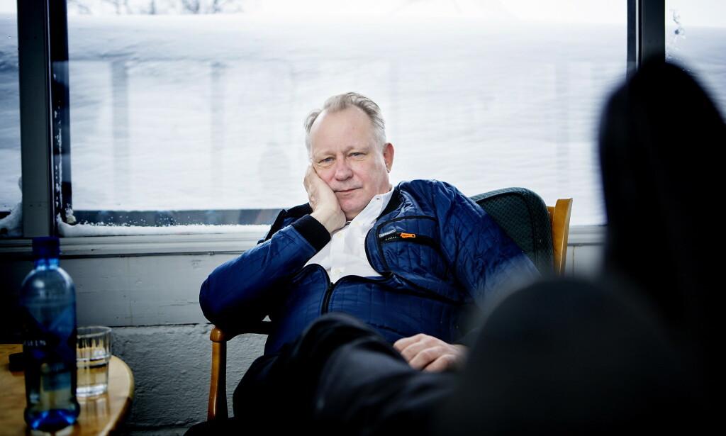 VETERAN: Dagbladet møtte skuespiller Stellan Skarsgård i Berlin tidligere i februar. Her fra Beitostølen-premieren på «Kraftidioten» i 2014. Foto: Christian Roth Christensen / Dagbladet