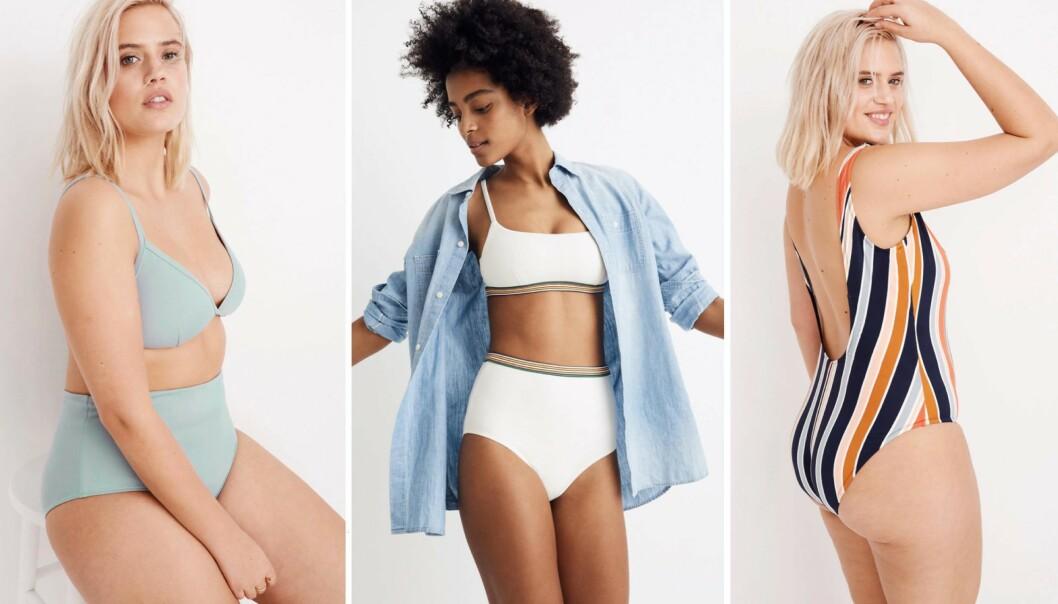 VINN-VINN: I disse bikiniene og badedraktene kan du føle deg fin – og ha god samvittighet! Sjekk hvorfor i saken. FOTO: Skjermdump fra Madewell