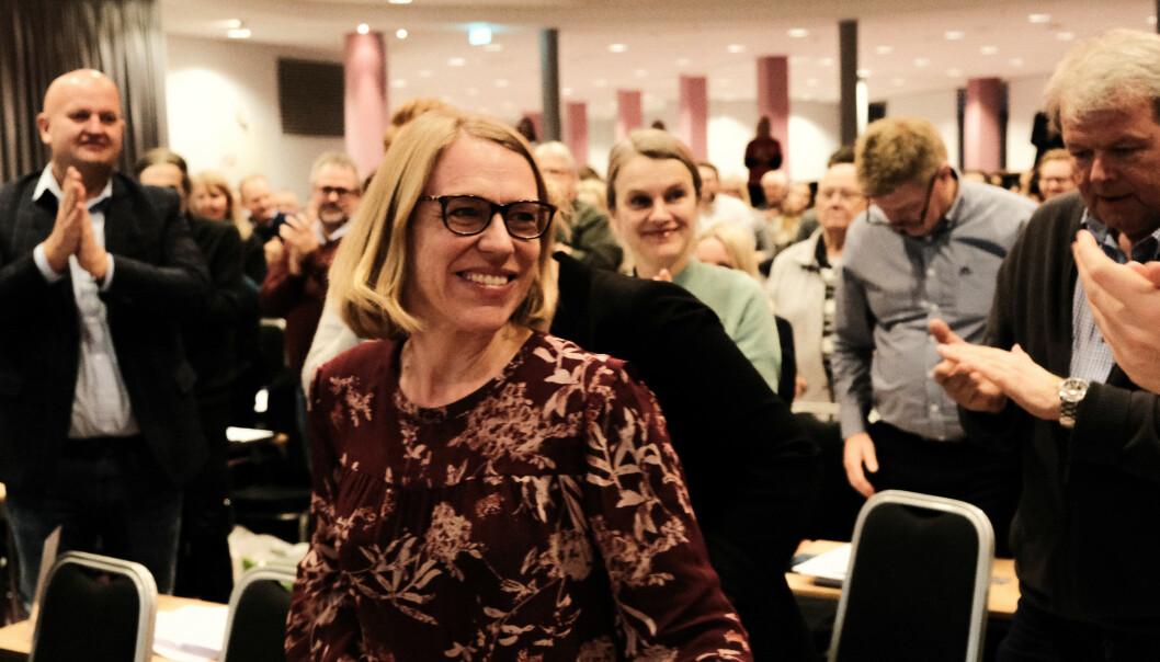 NY LEDER: Anniken Huitfeldt ble i helga valgt til ny leder av Akershus Ap etter Sverre Myrli. Huitfeldt gir seg nå, etter det Dagbladet erfarer, som leder av Aps kvinnenettverk. Men hun er kandidat til sentralstyret fra Akershus og vil dermed etter all sannsynlighet fortsette i sentralstyret. Foto:Morten Quist Hommersand