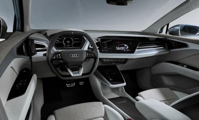 GJENBRUK: Innvendig er det brukt mye resirkulerbare materialer. Foto: Audi