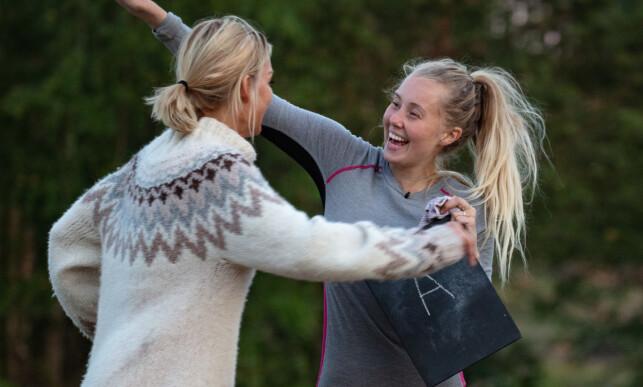 - SVARTE FEIL: Martine Lunde innrømmer at hun svarte feil med vilje på det siste spørsmålet, og dermed ga Kathrine Sørland en plass videre i konkurransen. Foto: Alex Iversen / TV 2