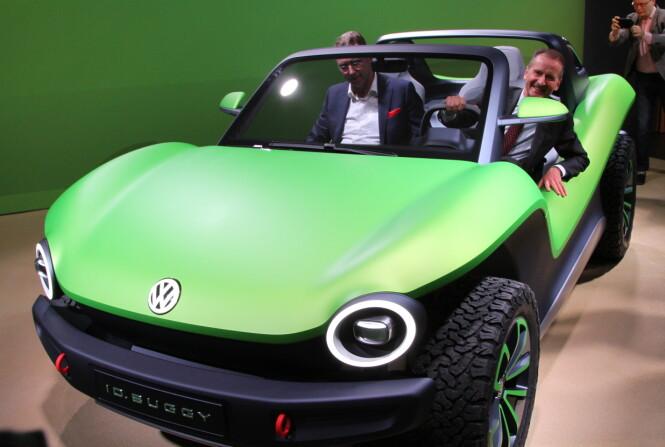 <strong>SATSER ELEKTRISK:</strong> - 2019 blir et stort år med mange nye, elektriske biler fra oss, sier VW-sjef Herbert Diess. Foto: Rune Korsvoll