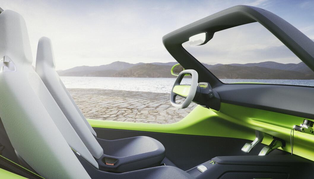 <strong>BILLIG:</strong> Dersom Buggy bygges, blir den enkelt og rimelig og kommer til å bli bygget av andre enn VW. Den elektriske plattformen er imidlertid den samme som i VWs andre elbiler. Foto: VW