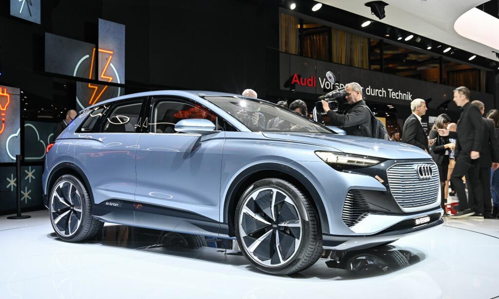 NY EL-SUV: Om ett år er den klar - nye Audi Q4 e-tron. En kompakt el-suv, som blir som skapt for norske forhold. Foto: Jamieson Pothecary