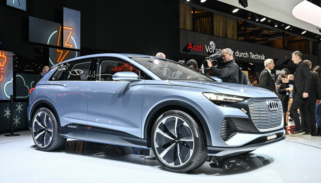 <strong>NY EL-SUV:</strong> Om ett år er den klar - nye Audi Q4 e-tron. En kompakt el-suv, som blir som skapt for norske forhold. Foto: Jamieson Pothecary