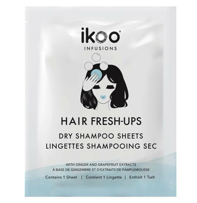 Dry shampoo sheets fra Ikoo via Vita.no, kr 99.