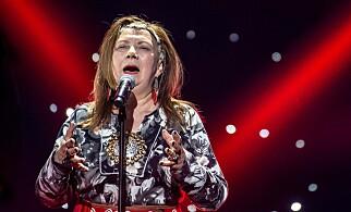 KONSERT: Marie Boine synger «Fremmed fugl», her fra generalprøven. Foto: Hans Arne Vedlog