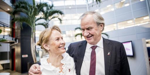 image: Dette sier Bjørn Kjos' kone om Norwegian-sjefens avgang