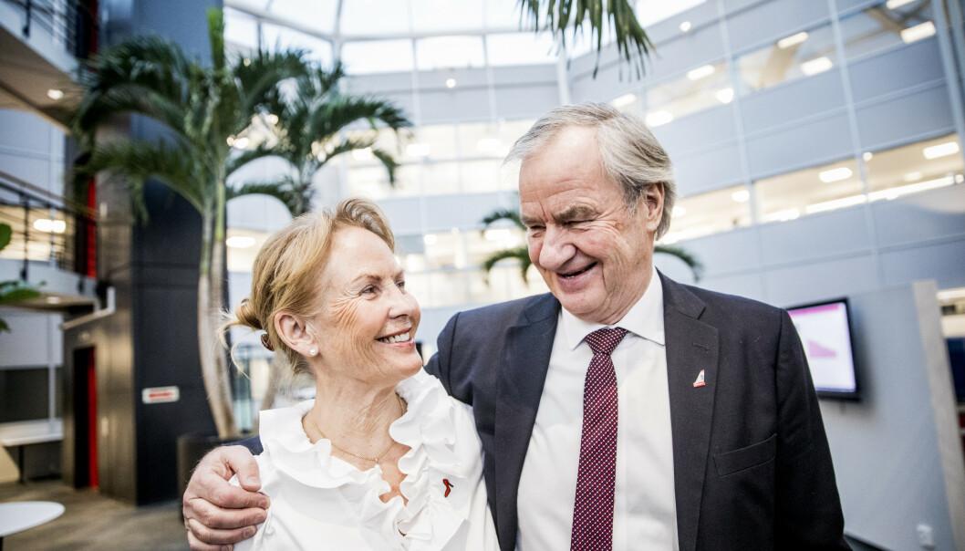 LAST OG BRAST: Gerd Helene og Bjørn Kjos gleder seg til late dager på hytta ved Nesbyen - og å få familie og barnebarn på besøk.