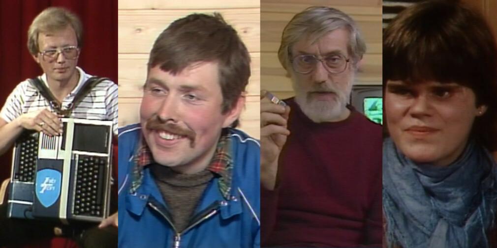 Vanlige folk brukte faktisk data på 80-tallet. Norge Rundt dokumenterte flittig om bruken. 📸: NRK / Jørgen Jacobsen