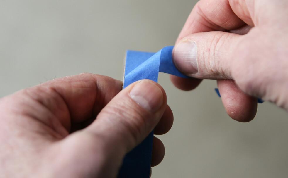 <strong>FINN ENDEN:</strong> For å finne igjen enden på teipen er dette en smart metode. Foto: Øivind Lie-Jacobsen