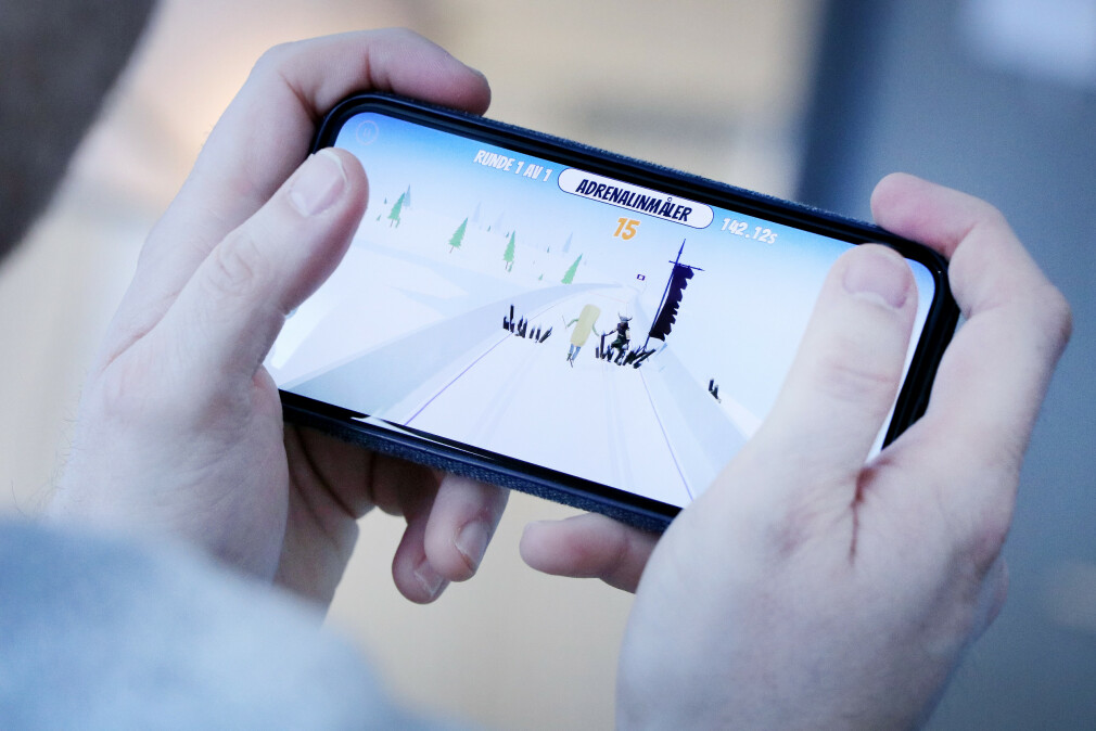 Løype! er VGs eget skispill, i forbindelse med ski-VM. Utvikleren bak, Einar Otto Stangvik, har laget det i Unity. 📸: Ole Petter Baugerød Stokke