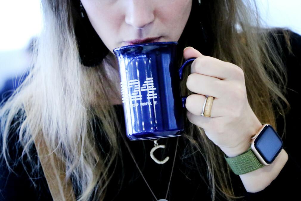 Norske utviklere drikker i snitt 3,5 kopper med kaffe hver arbeidsdag. Mens kvinner drikker betraktelig mindre. 📸: Ole Petter Baugerød Stokke
