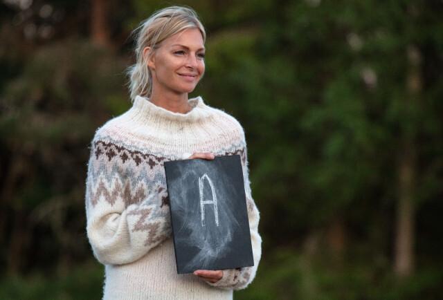 0c64bf0b EGEN GENSER: Kathrine Sørland har vært med å designe denne genseren, men  forteller at