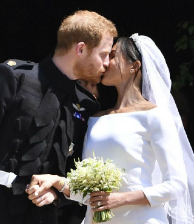<strong>EVENTYRBRYLLUP:</strong> En hel verden fulgte med da prins Harry giftet seg med den amerikanske «Suits»-stjerna Meghan Markle 19. mai i fjor. Foto: AP / NTB scanpix