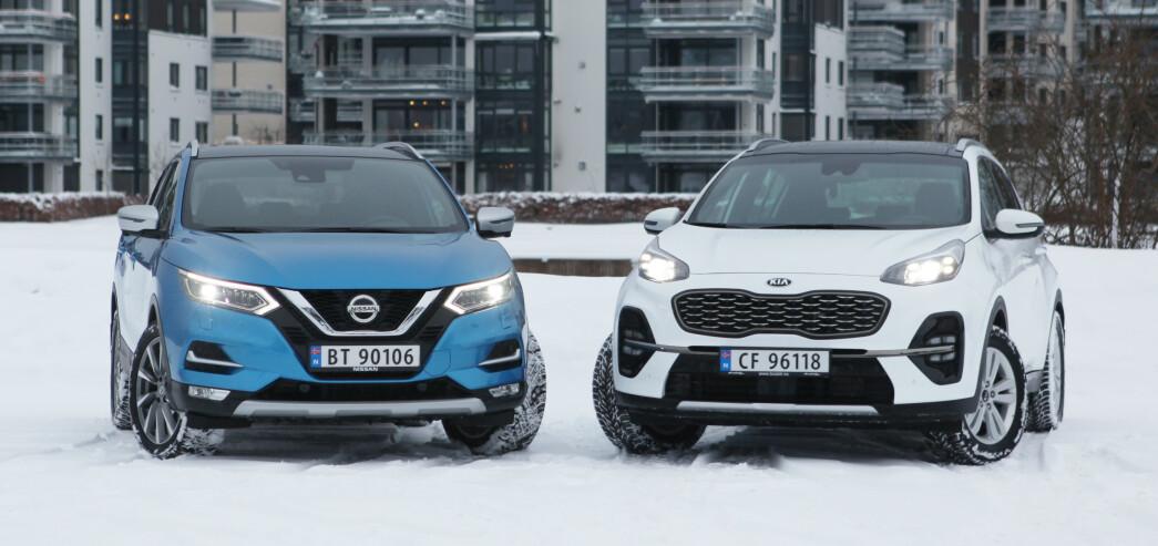 <strong>NYE MOTORER:</strong> Nissan fjerner firehjulstrekk, Kia kommer endelig med firehjulstrekk på minste motor. Foto: Rune M. Nesheim
