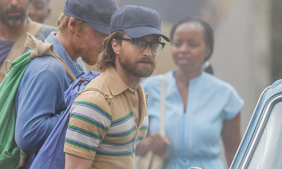 UGJENKJENNELIG: Daniel Radcliffe er ikke til å kjenne igjen på filmsettet. Foto: NTB Scanpix
