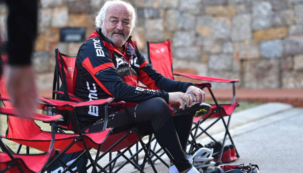 - GLAD FOR DOPINGEN: Da nå avdøde Andy Rihs var sjef for det skandaleombruste sykkellaget Phonak, med blant annet Tyler Hamilton og Floyd Landis på lønningslista, opplevde han at høreapparatene har produserte ble verdenskjent på grunn av dopingsakene rundt satsingen. Fram til han døde i fjor vinter, var han eier av sykkellaget BMC Racing Team. FOTO: Tim De Waele/Getty Images