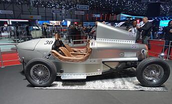 BRIGITTE: Den billigste versjonen av Devinci sine retrobiler vist under motormessen i Genéve. Foto: Fred Magne Skillebæk