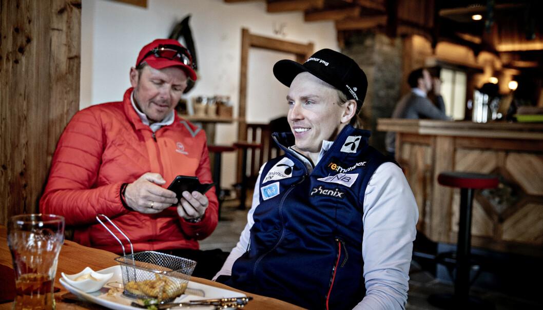 INNGÅR AVTALE: Henrik Kristoffersen og hans far Lars har blitt enig med Norges Skiforbund om en avtale på tre år. Foto: Bjørn Langsem/Dagbladet
