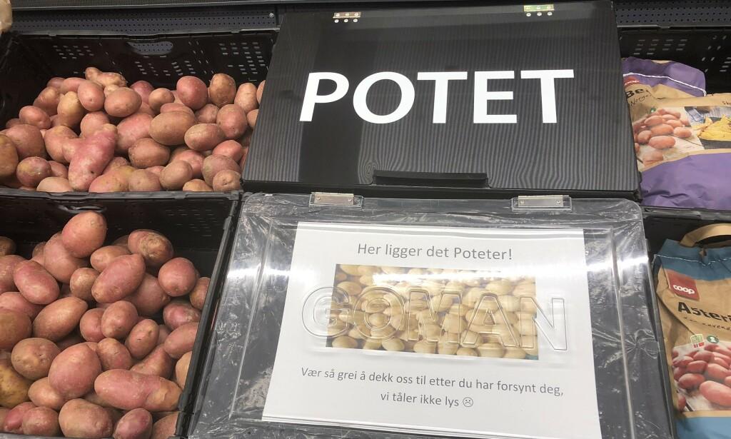 UNDER LOKK: De nye potetlokkene bidrar til mindre svinn og lengre holdbarhet. Foto: Coop