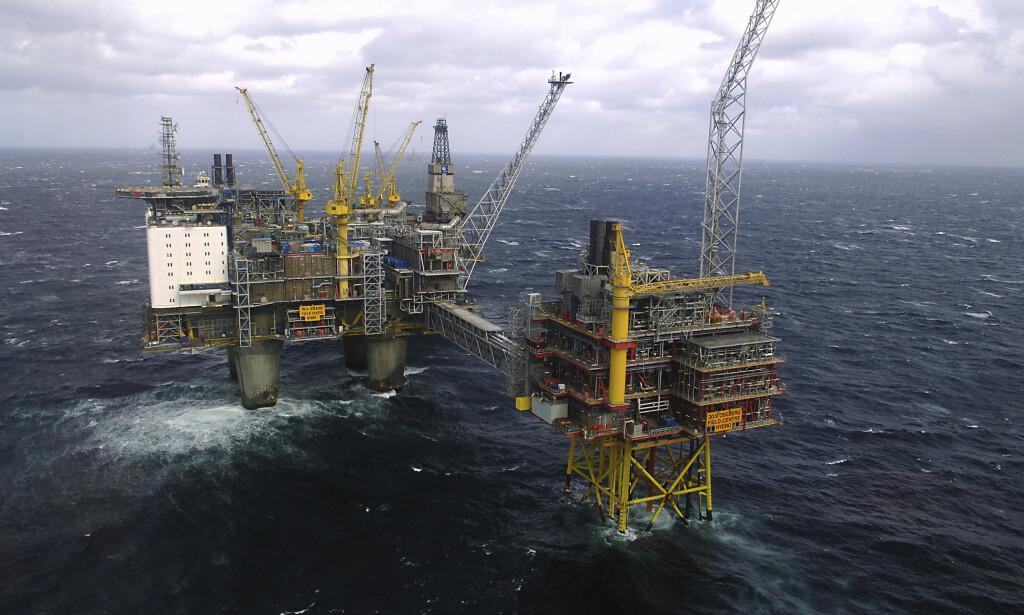 UT: Finansminister Siv Jensen kunngjorde i dag regjeringens beslutning om å trekke oljefondet ut av deler av sin portefølje av olje- og gassaksjer. Foto: NTB Scanpix