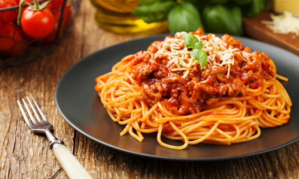 FINNES IKKE: Ordføreren i Bologna mener retten spaghetti Bolognese egentlig ikke finnes. Foto: Shutterstock