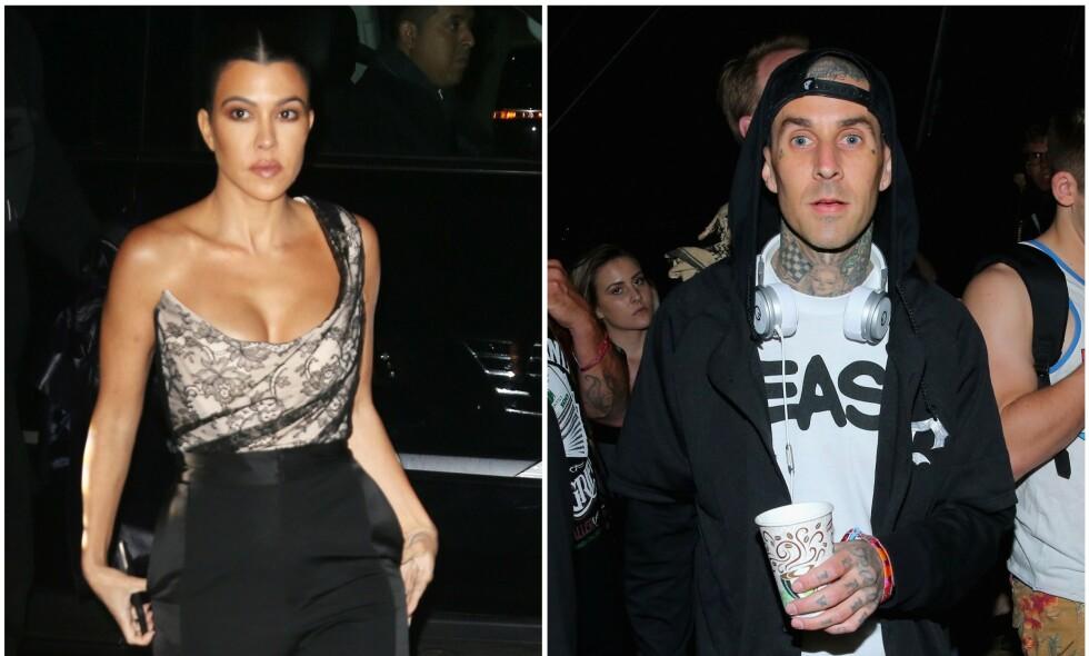 KJÆRLIGHET I LUFTEN?: Nå går ryktene om at Kourtney Kardashians nye flamme er Travis Barker. Foto: NTB Scanpix
