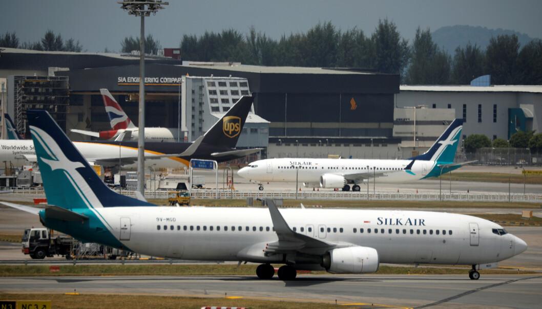 <strong>BOEING 737 MAX 8:</strong> Suspensjonen er midlertidig mens luftfartsmyndighetene i landet avventer flere opplysninger om årsaken til flystyrten søndag. Foto: REUTERS/Edgar Su.