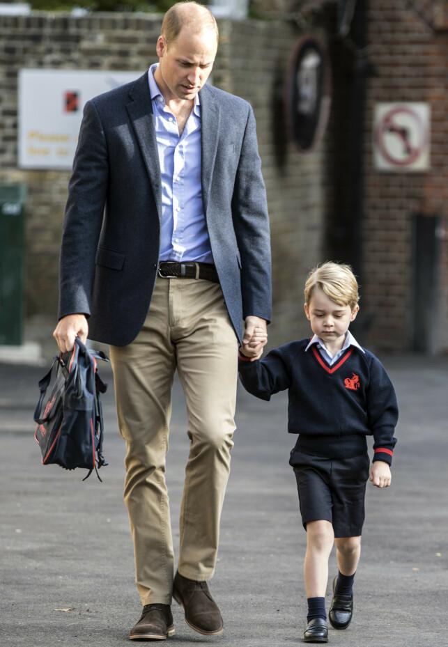 ARVER TRONEN: At prins George en dag skal arve tronen, er ifølge foreldrene hans noe han ikke har fått vite enda. Foto: NTB Scanpix