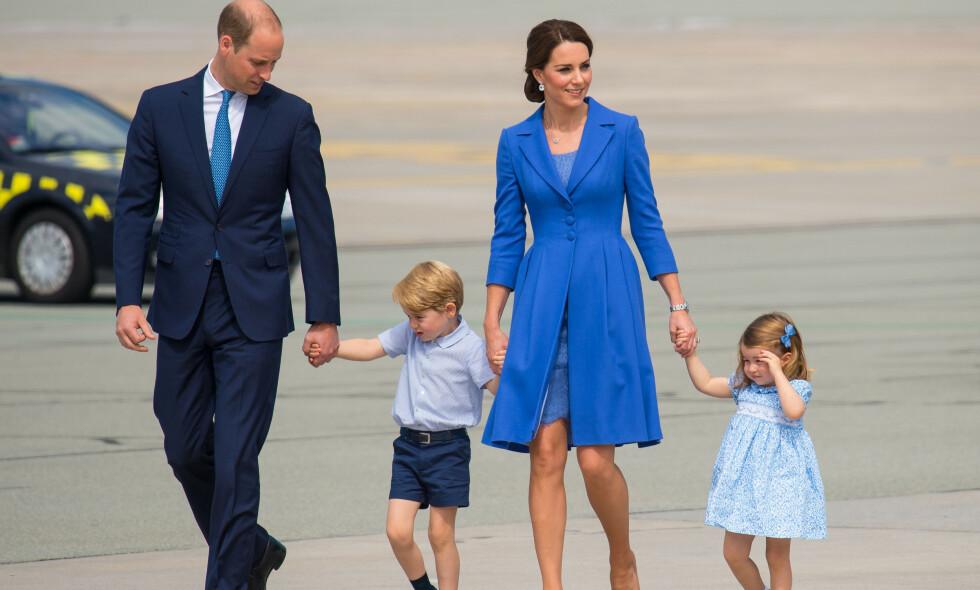 BRUTALT ÆRLIG: Prins William legger ikke skjul på at ikke alle oppgaver som far er like enkle. Foto: NTB Scanpix