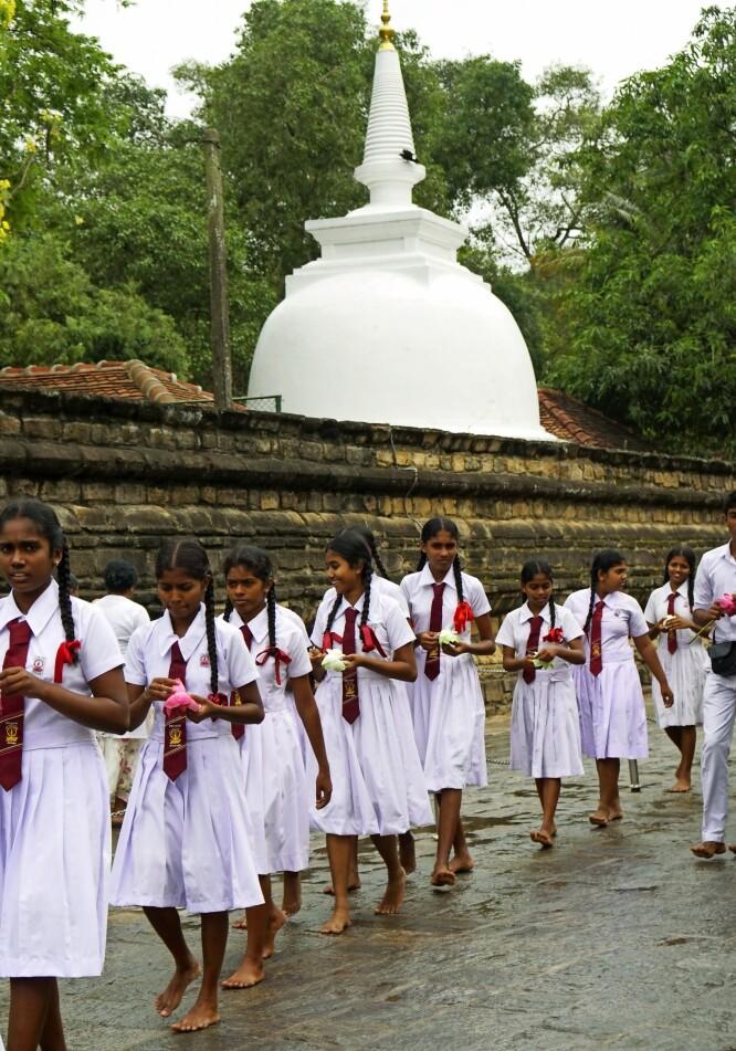 Tannens tempel er den største turistattraksjonen i byen Kandy.