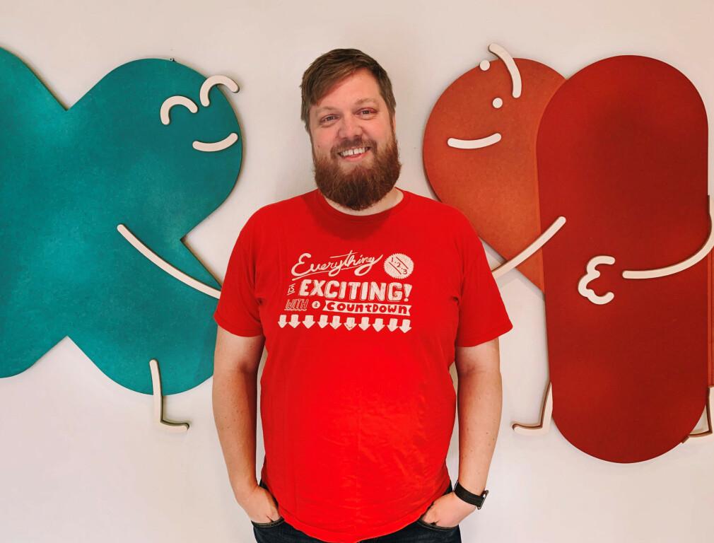 Andreas Marienborg er utvikler og styrer med hosting i Fiken. 📸Fiken