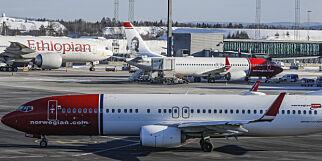 image: Fem Norwegian-fly på vei til og fra Norge er berørt
