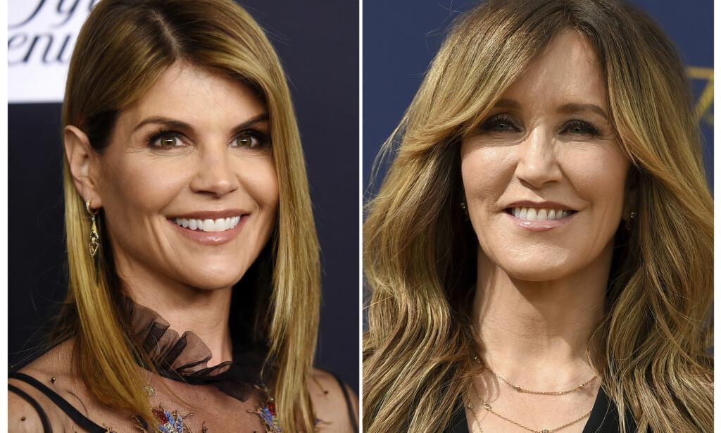I HARDT VÆR: Skuespillerne Lori Loughlin og Felicity Huffman, kjent fra henholdsvis «Full House» og «Frustrerte fruer», er blant dem som beskyldes for å ha gitt grove bestikkelser. Foto: NTB Scanpix