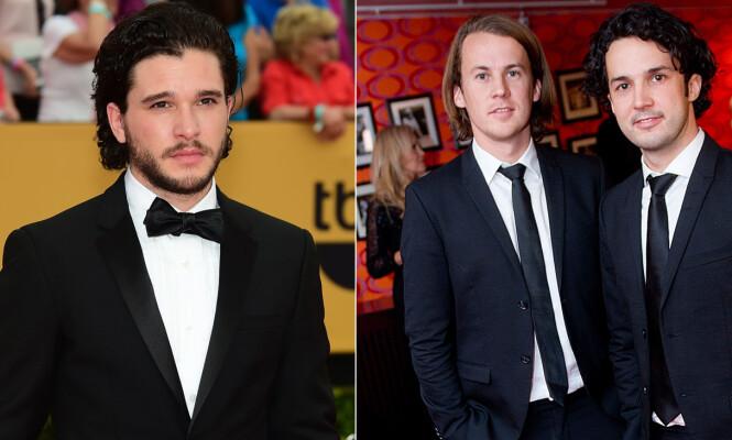 LIKHET: Bård og Vegard Ylvisåker synes Vegard ligner på Jon Snow, spilt av Kit Harrington, i «Game of Thrones». Foto: NTB Scanpix