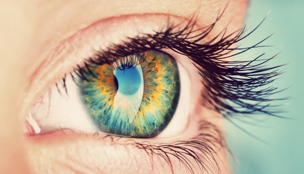 BLUNK OFTERE: Å blunke oftere når du ser på skjermen kan hjelpe øynene dine. Foto: Ramona Heim / Shutterstock / NTB scanpix.