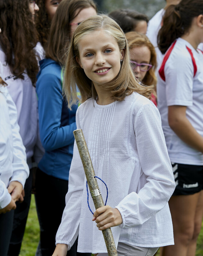 YNGST: Spanias Leonor var bare åtte år da hun ble kronprinsesse, og er som 13-åring Europas yngste med den tittelen. Foto: NTB Scanpix