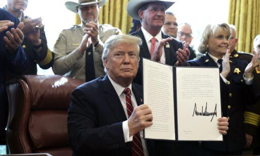 image: Trump har lagt ned sitt første veto som president