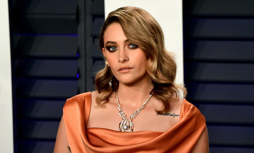 SYKEHUS-DRAMA: Alarmen gikk i Hollywood lørdag, da det ble påstått at Paris Jackson (20) hadde forsøkt å ta sitt eget liv. Dette er senere blitt tilbakevist av Jackson selv. Foto: NTB Scanpix