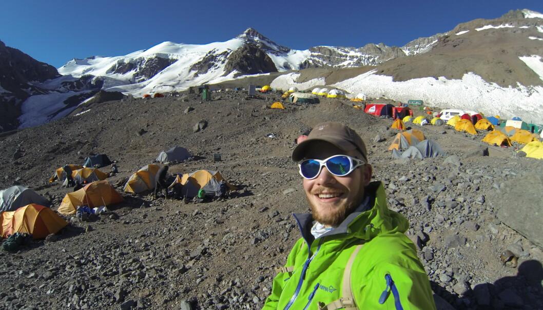 <strong>BASECAMP:</strong> På vei opp Aconcagua - Sør-Amerikas høyeste fjell. Foto: Privat